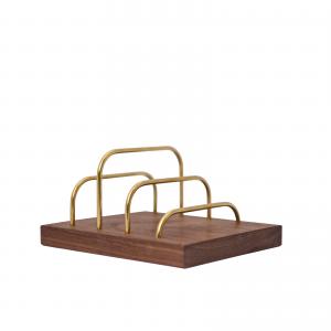 Brass-dock-messing valnoed-dot aarhus-brevholder-mobilholder-mobilfrizone-ipadholder