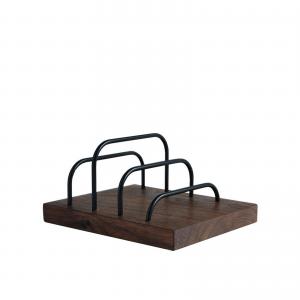 Brass-dock - walnut - black - dot aarhus - kontorartikler - office - brevholder - ipadholder