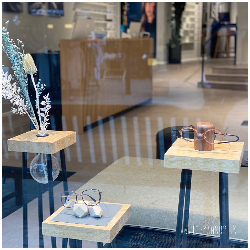 Wichmann optik - nosey - brilleholder - vinduesudstilling - dansk design - dot aarhus